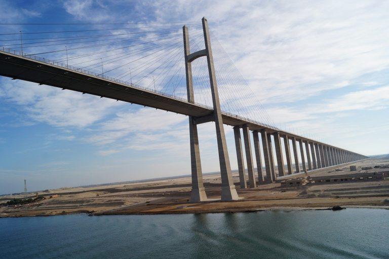 Eram Trans NEWS IMAGE 3 - image of a bridge above the suez canal -- SOURCE BBC NEWA